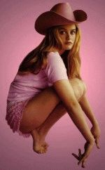 Алисия Сильверстоун в одних трусах и ковбойской шляпе