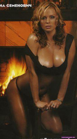 Анна Семенович фотосессия в эротическом журнале