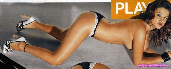голая Ксения Бородина стоит раком в эротическом журнале playboy