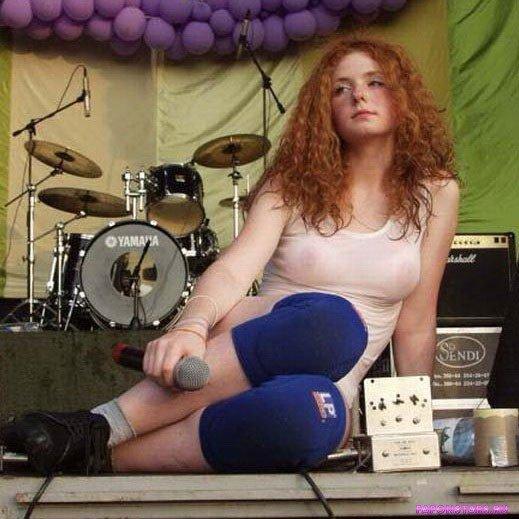 Лена Катина в нижнем белье