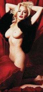 эротической фото голой Линдсей Лохан с обнаженной грудью