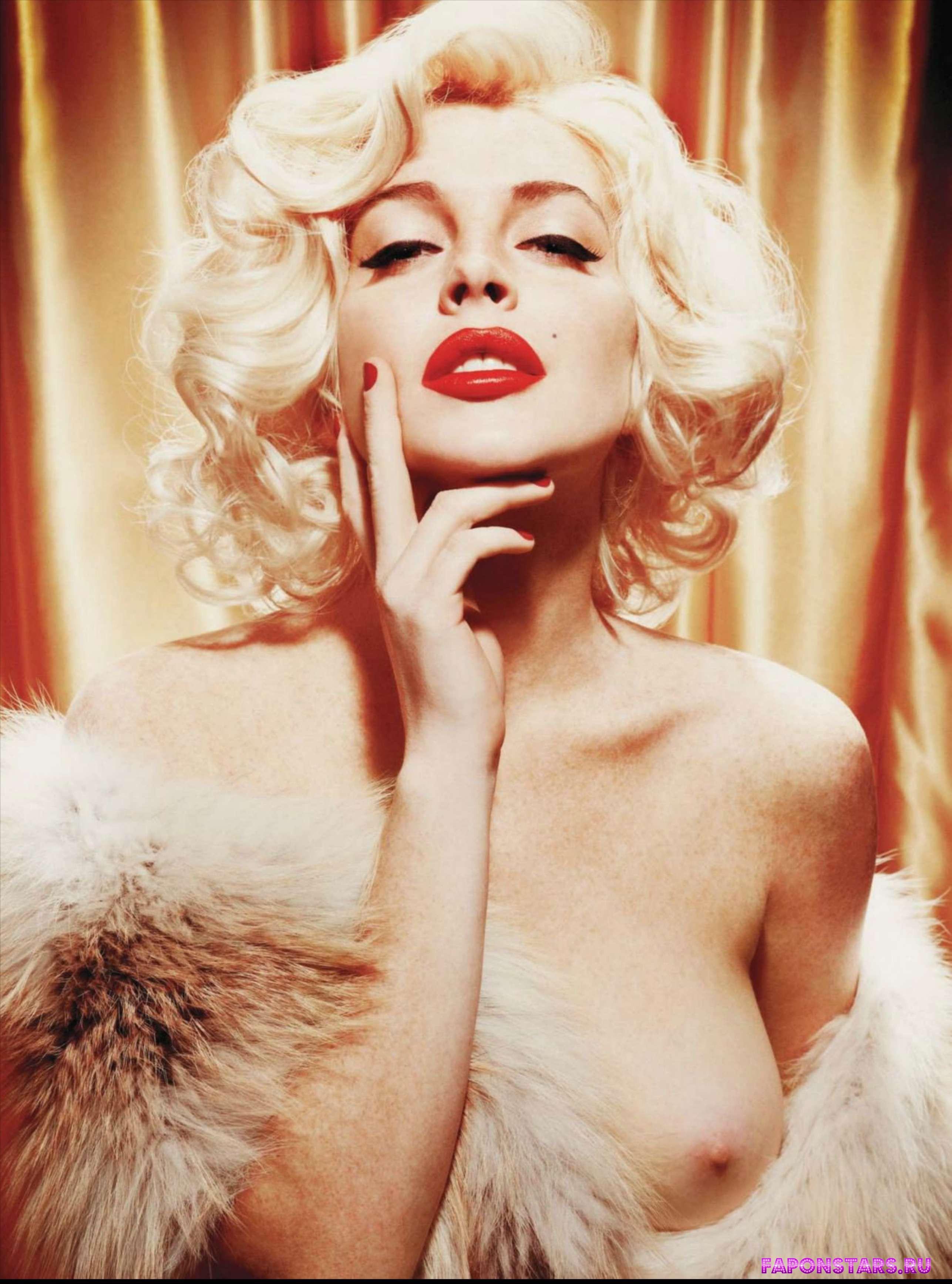 голая Линдси Лохан в образе Монро в журнале плейбой