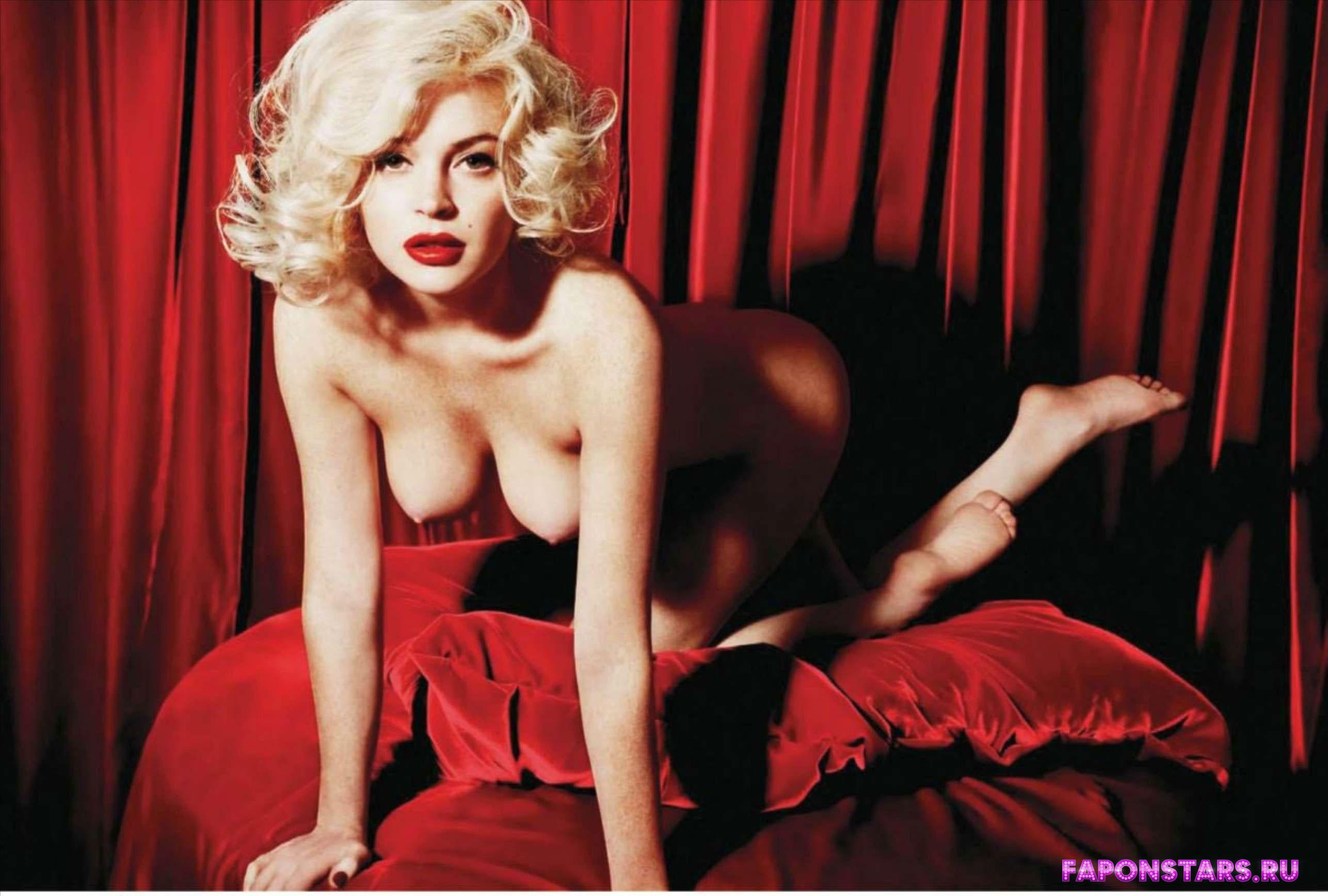 Линдси Лохан обнажила грудь и все тело в журнале плейбой