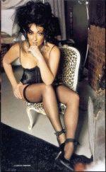 Сексуальная Лола Милявская в черных чулках