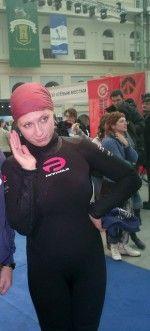 Яна Чурикова в водолазном костюме